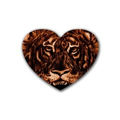 Eye Of The Tiger Rubber Coaster (heart)