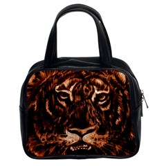Eye Of The Tiger Classic Handbags (2 Sides)