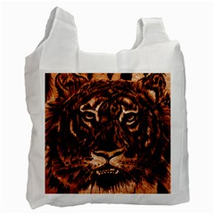 Eye Of The Tiger Recycle Bag (two Side)