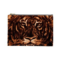 Eye Of The Tiger Cosmetic Bag (Large)