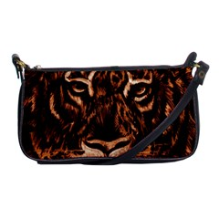 Eye Of The Tiger Shoulder Clutch Bags