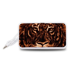 Eye Of The Tiger Portable Speaker (White)