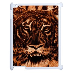 Eye Of The Tiger Apple iPad 2 Case (White)