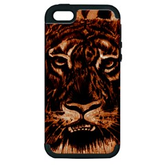 Eye Of The Tiger Apple iPhone 5 Hardshell Case (PC+Silicone)