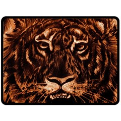 Eye Of The Tiger Double Sided Fleece Blanket (Large)