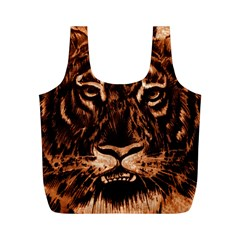 Eye Of The Tiger Full Print Recycle Bags (m)