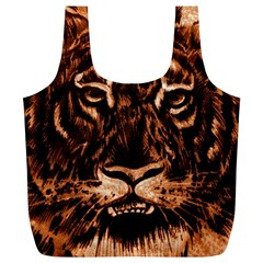 Eye Of The Tiger Full Print Recycle Bags (L)