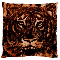 Eye Of The Tiger Standard Flano Cushion Case (one Side)