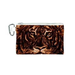 Eye Of The Tiger Canvas Cosmetic Bag (S)
