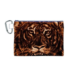 Eye Of The Tiger Canvas Cosmetic Bag (m)