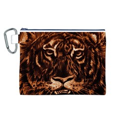Eye Of The Tiger Canvas Cosmetic Bag (L)