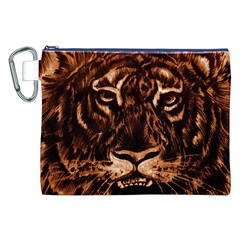 Eye Of The Tiger Canvas Cosmetic Bag (xxl)