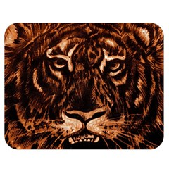 Eye Of The Tiger Double Sided Flano Blanket (Medium)