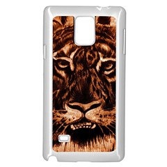 Eye Of The Tiger Samsung Galaxy Note 4 Case (white)