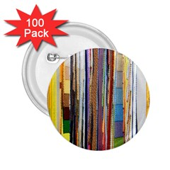 Fabric 2.25  Buttons (100 pack)