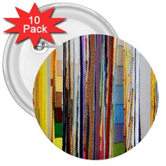 Fabric 3  Buttons (10 pack)