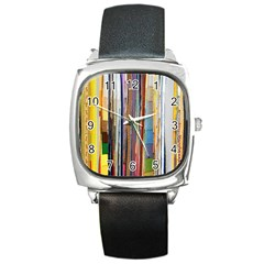 Fabric Square Metal Watch