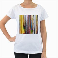 Fabric Women s Loose-Fit T-Shirt (White)