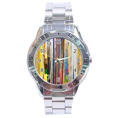 Fabric Stainless Steel Analogue Watch