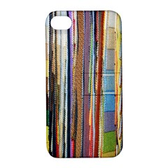 Fabric Apple Iphone 4/4s Hardshell Case With Stand