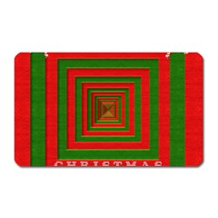 Fabric 3d Merry Christmas Magnet (Rectangular)