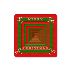 Fabric 3d Merry Christmas Square Magnet