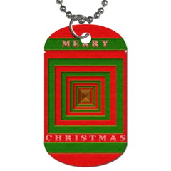Fabric 3d Merry Christmas Dog Tag (One Side)