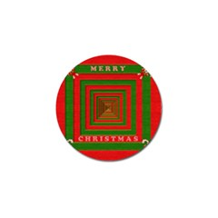 Fabric 3d Merry Christmas Golf Ball Marker (4 pack)