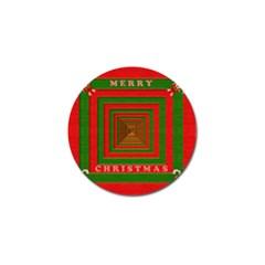 Fabric 3d Merry Christmas Golf Ball Marker (10 pack)