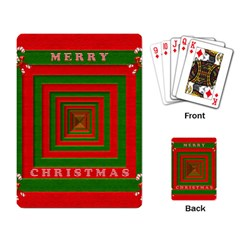 Fabric 3d Merry Christmas Playing Card