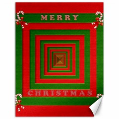 Fabric 3d Merry Christmas Canvas 12  x 16