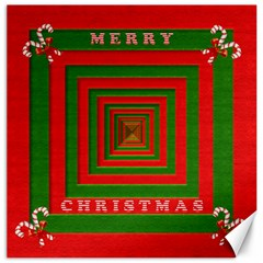 Fabric 3d Merry Christmas Canvas 20  x 20