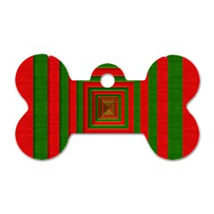Fabric 3d Merry Christmas Dog Tag Bone (Two Sides)