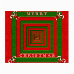 Fabric 3d Merry Christmas Small Glasses Cloth (2-Side)