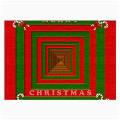 Fabric 3d Merry Christmas Large Glasses Cloth (2-Side)