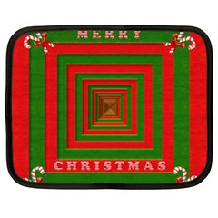 Fabric 3d Merry Christmas Netbook Case (Large)