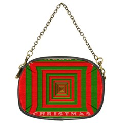 Fabric 3d Merry Christmas Chain Purses (One Side)