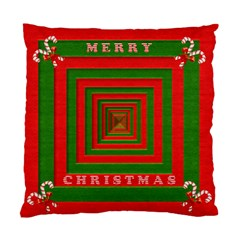 Fabric 3d Merry Christmas Standard Cushion Case (two Sides)