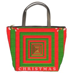 Fabric 3d Merry Christmas Bucket Bags