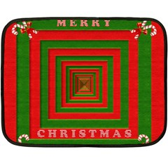 Fabric 3d Merry Christmas Double Sided Fleece Blanket (Mini)