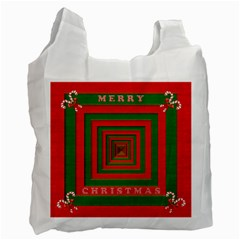 Fabric 3d Merry Christmas Recycle Bag (Two Side)