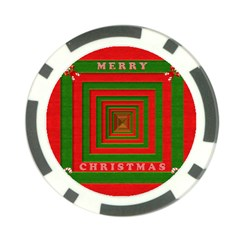 Fabric 3d Merry Christmas Poker Chip Card Guard (10 pack)