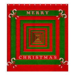 Fabric 3d Merry Christmas Shower Curtain 66  x 72  (Large)