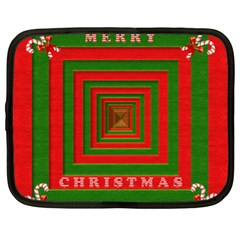 Fabric 3d Merry Christmas Netbook Case (XL)