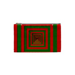 Fabric 3d Merry Christmas Cosmetic Bag (Small)