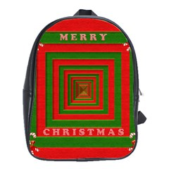 Fabric 3d Merry Christmas School Bags(Large)