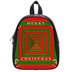 Fabric 3d Merry Christmas School Bags (Small)