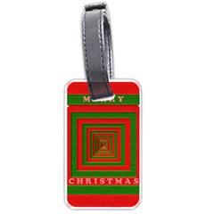 Fabric 3d Merry Christmas Luggage Tags (One Side)