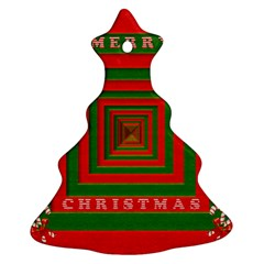 Fabric 3d Merry Christmas Ornament (Christmas Tree)