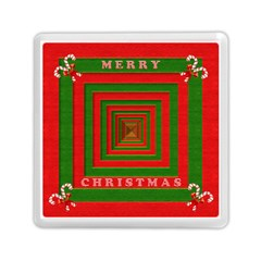 Fabric 3d Merry Christmas Memory Card Reader (square)